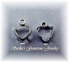 HEART SHAPE LOW WALL BACKSET EARRING DROPS - SERIES 204-090