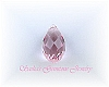13 X 6.5 LIGHT ROSE SWAROVSKI CRYSTAL BRIOLETTE