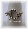 OVAL WIRE BASKET RING W/(4) 3 MM ROUND ACCENTS - SERIES 005-490