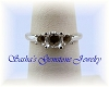 STERLING SILVER ROUND TRI-STONE RING CASTING - SERIES 005-821