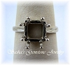 SQUARE 8-PRONG RING - SERIES 005-845