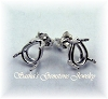 PEAR PRE-NOTCHED WIRE BASKET EARRING STUDS - SERIES 003-060