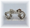 ROSE PRE-NOTCHED EARRING STUDS - SERIES 003-217