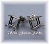 SQUARE PRE-NOTCHED WIRE BASKET EARRING STUDS - SERIES 003-070
