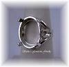 OVAL CABOCHON SIDE DECO RING - SERIES 005-900