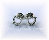 6 MM HEART STERLING SILVER CABOCHON STUDS