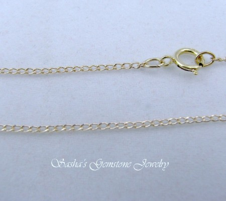 18 Inch 14 Kt 1 20 Gold Filled Light Curb Chain