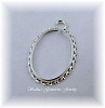 25 X 18 OVAL STERLING SILVER FANCY ROPE CINCH MOUNT