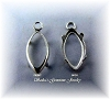 MARQUISE 1-RING LOW WALL BACKSET EARRING DROPS - SERIES 204-040