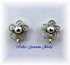 STERLING SILVER FLOWER FILIGREE STUDS WITH OPEN RING