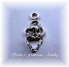 5 MM HEART STERLING SILVER FILIGREE SNAPTITE PENDANT/DROP