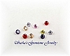 3 MM ROUND MIXED COLOR CUBIC ZIRCONIA - LOT OF 10