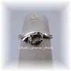 6 X 4 OVAL STERLING SILVER PETITE BIRTHSTONE RING