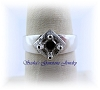 5 MM ROUND STERLING SILVER FLORENTINE TOP RING SETTING