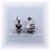 3.5 MM ROUND STERLING SILVER CHARM PENDANT