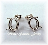 OVAL PRE-NOTCHED WIRE BASKET EARRING STUDS - SERIES 003-050