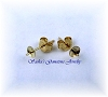 14 KT YELLOW GOLD PEARL EARRING STUDS