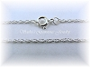 18 INCH PALLADIUM PLATED STERLING SILVER LIGHT ROPE CHAIN