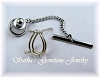 PEAR SHAPE WIRE BASKET TIE TACK - SERIES 006-060