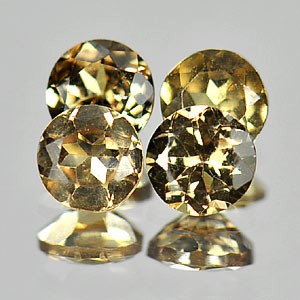 4 X 4 X 2.2 MM ROUND COLOR CHANGE GARNET - MATCHED PAIR