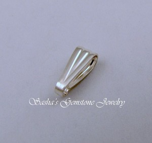 10 MM STERLING SILVER SNAP-ON BAIL