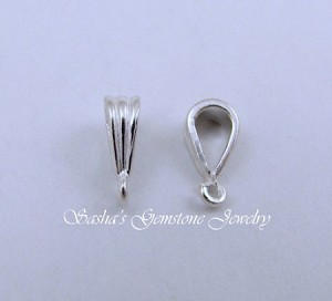 8 MM STERLING SILVER TRI-RIB BAIL