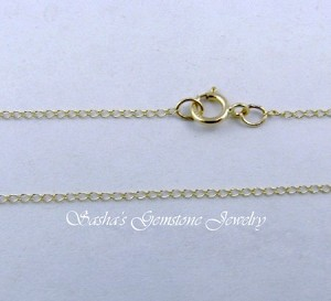 16 INCH 14 KT YELLOW GOLD LIGHT CURB CHAIN