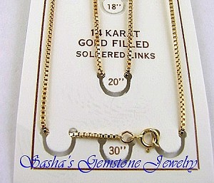 20 INCH 14 KT GOLD FILLED VENETIAN BOX CHAIN