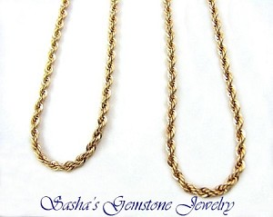24 INCH 2.5 MM 14 KT 1/20 GOLD FILLED FRENCH ROPE CHAIN