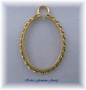 25 X 18 OVAL 14 KT 1/20 GOLD FILLED FANCY ROPE CINCH MOUNT
