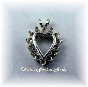 STERLING SILVER HEART CLUSTER PENDANT