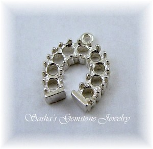 2.5 MM ROUND STERLING SILVER HORSESHOE PENDANT/DROP