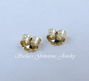 14 KT YELLOW GOLD MEDIUM EARNUTS