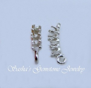 STERLING SILVER EARRING EXTENDERS W/(3) 2.5 MM ROUNDS