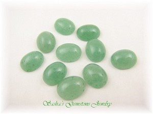 12 X 10 OVAL AVENTURINE - LOT OF 10 CABS