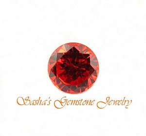 10 MM ROUND PADPARADSCHAH CUBIC ZIRCONIA