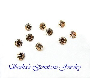 3 MM ROUND CHAMPAGNE CUBIC ZIRCONIA - PACK OF 10