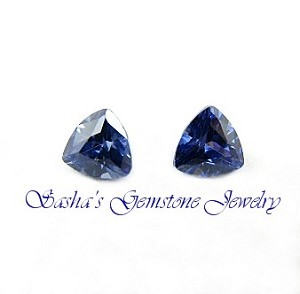 5 X 5 MM TRILLION TANZANITE CUBIC ZIRCONIA