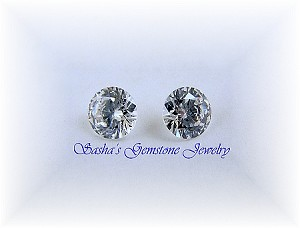 6.5 MM ROUND WHITE CUBIC ZIRCONIA - GRADE AAAAA - LOT OF 2