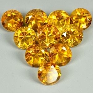 5.1 X 4.3 MM ROUND NATURAL GOLDEN YELLOW CITRINE PARCEL