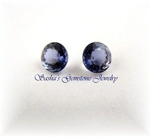 5.8 X 3.8 MM ROUND IOLITE MATCHED PAIR