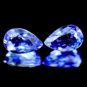 6 X 3.9 X 2.8 MM PEAR SHAPE GENUINE TANZANITE - MATCHED PAIR