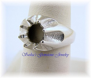 8 MM ROUND STERLING SILVER GENT'S GYPSY RING