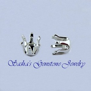5 MM ROUND STERLING SILVER 6-PRONG HEAD