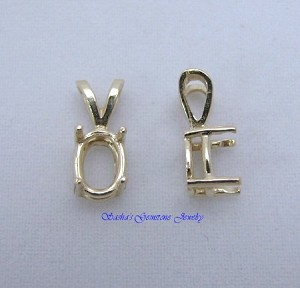GOLD OVER SILVER WIRE BASKET PENDANT CASTING