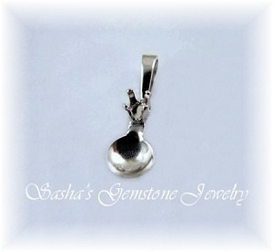 3 MM ROUND STERLING SILVER SNAPTITE PENDANT W/5 MM PEARL CUP