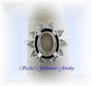 OVAL CLUSTER RING - SERIES 005-547