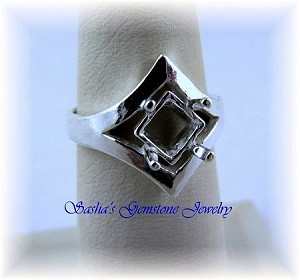 7 MM SQUARE STERLING SILVER SIDE SET