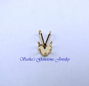 5 MM HEART 14 KT YELLOW GOLD SNAPTITE PENDANT