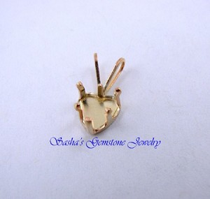 6 MM HEART 14 KT 1/20 GOLD FILLED SNAPTITE PENDANT
